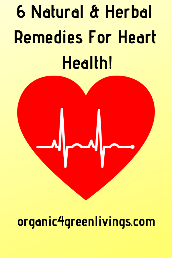 6 Plus Natural & Herbal Remedies for heart health
