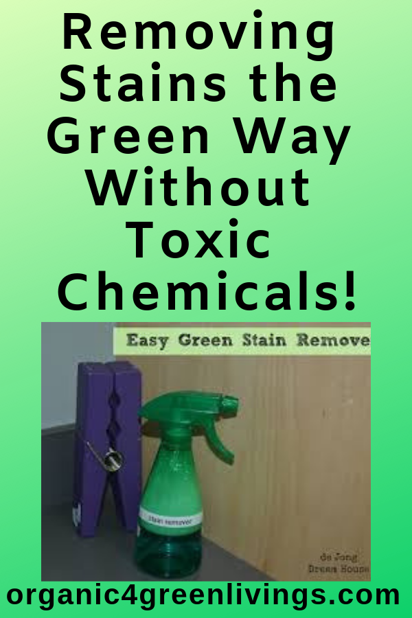 removing stains the green way
