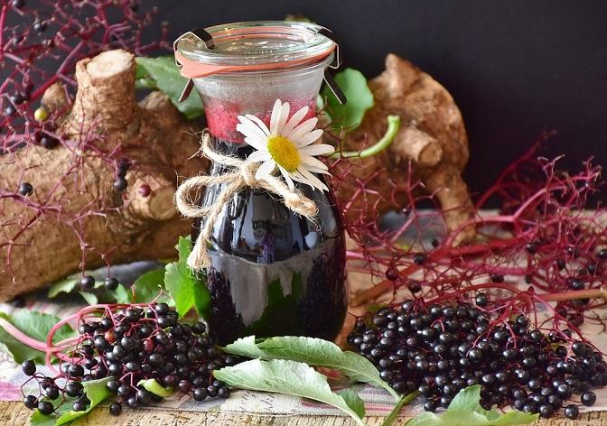 Herbal remedies - Elderberries