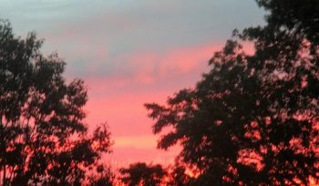 Sunset in late summer