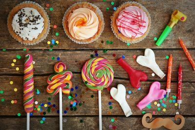 Eco-Friendly party -sweets and balloons