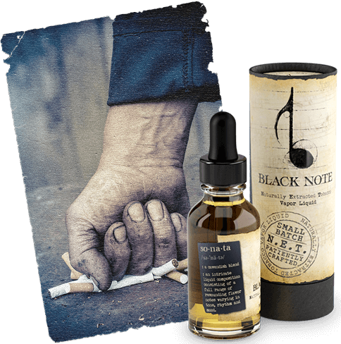 Black note to help quit smoking