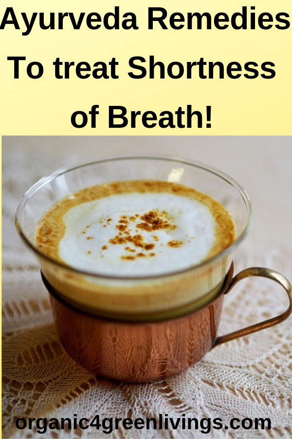 Turmeric Milk - Ayurveda remedy to treat dyspnea