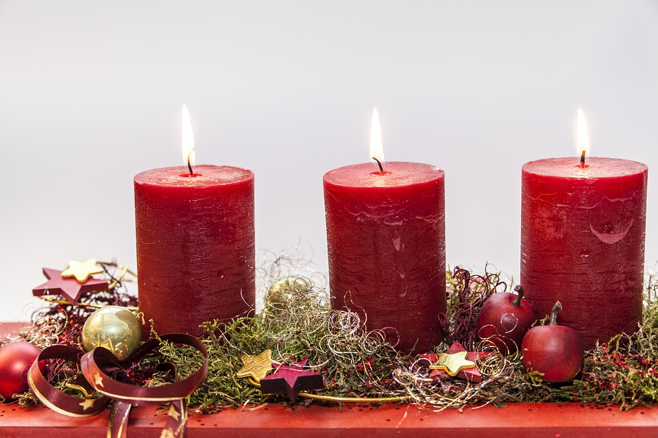 Organic Homemade Christmas candle