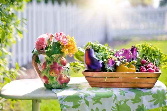 Gardening and living simpler