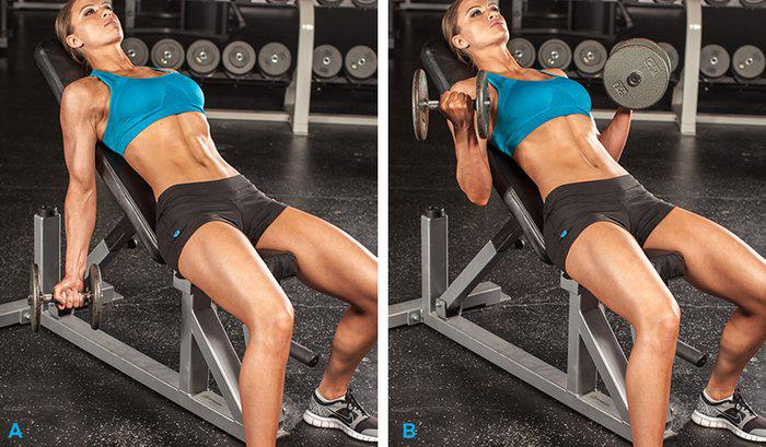 Exercise Incline Dumbbell curl