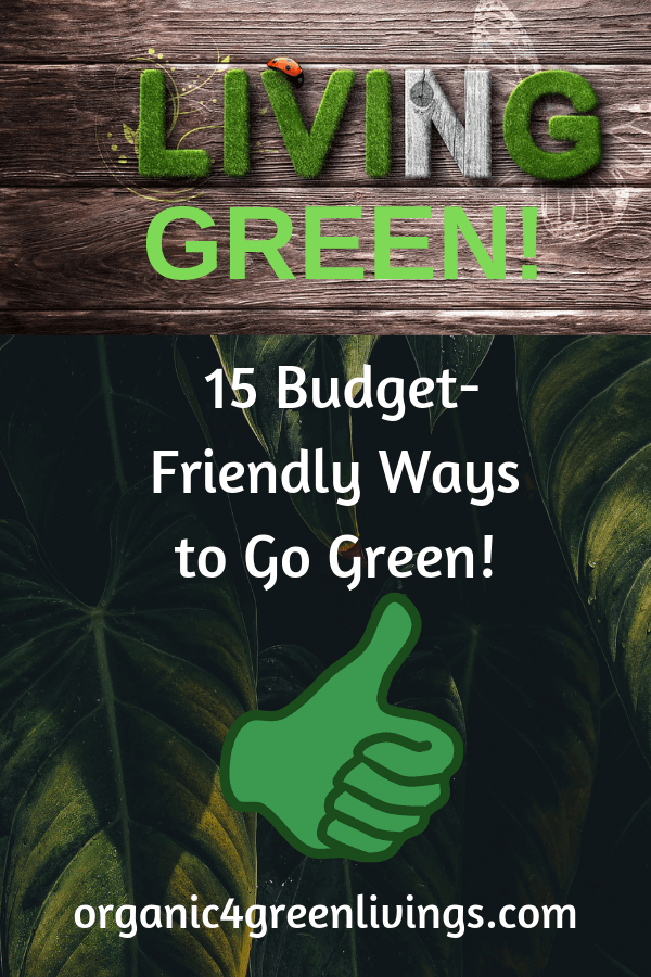 Green Living and save money