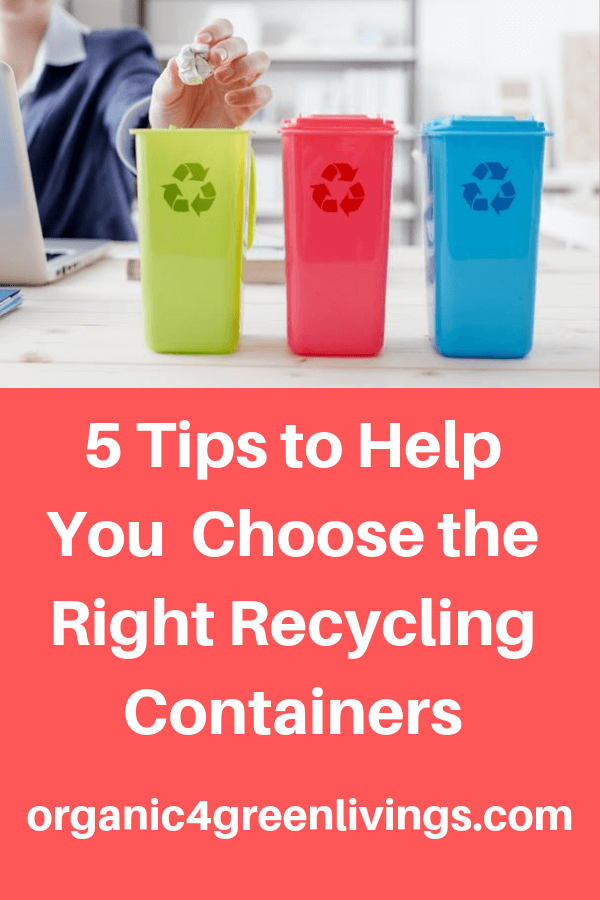 tips on choosing the right recycling containers