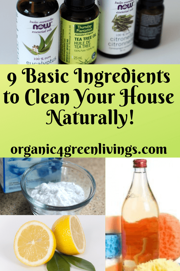 9 Basic Ingredients to Clean Your Home Naturally