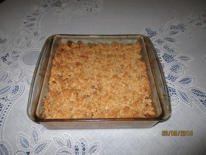 Homemade Organic Peach Crisp