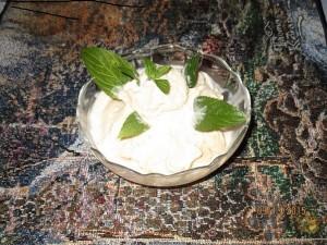 Healthy Organic Peach ice-cream
