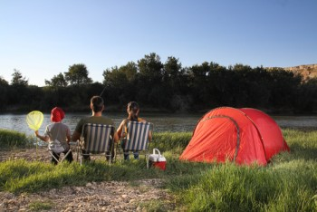 Eco friendly family camping trip