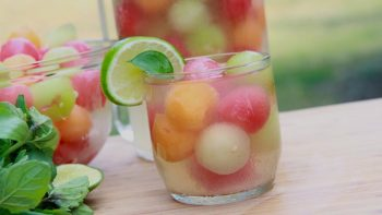 Cold Brewed Drinks - Mellon Ball Punch