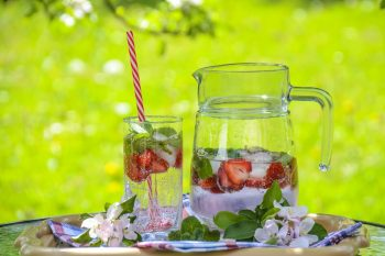 Cold infused healthy water with for exercis