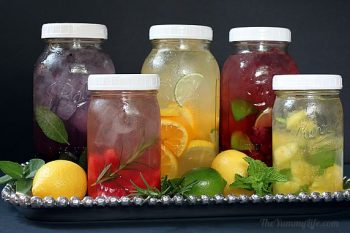 Healthy DIY flavored-water