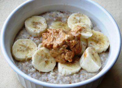 Elvis oatmeal banana and peanut butter
