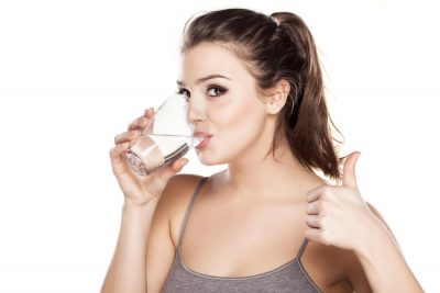 Stay hydrated - drinking water