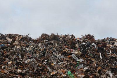 trash dump and pollution