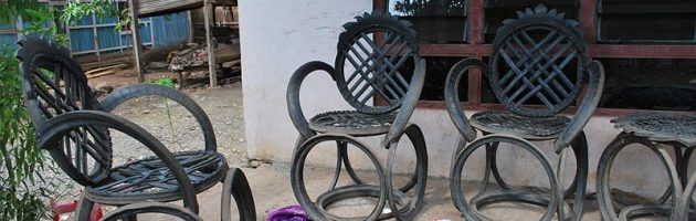 recycled metal furniture
