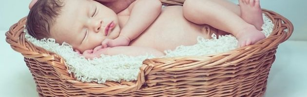 breast feed baby in basket