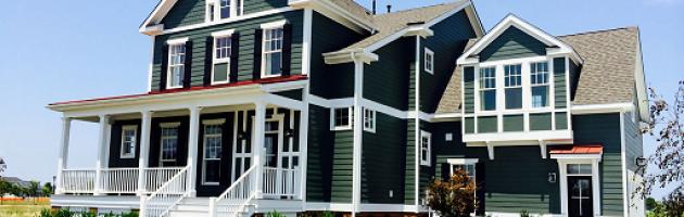 green exterior design