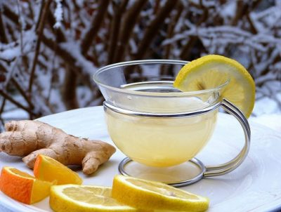 home remedy for cold and flu tea with lemon and honey