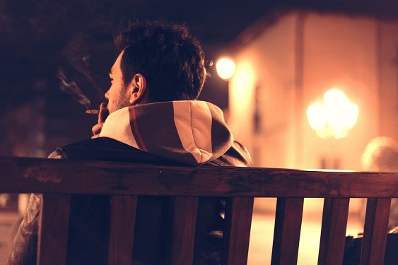 alternative to smoking man on bench