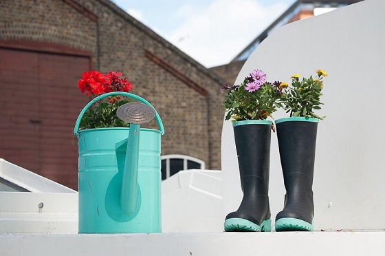 Recycle and reuse rubber boots