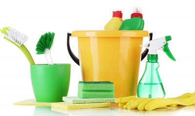 green homemade cleaning