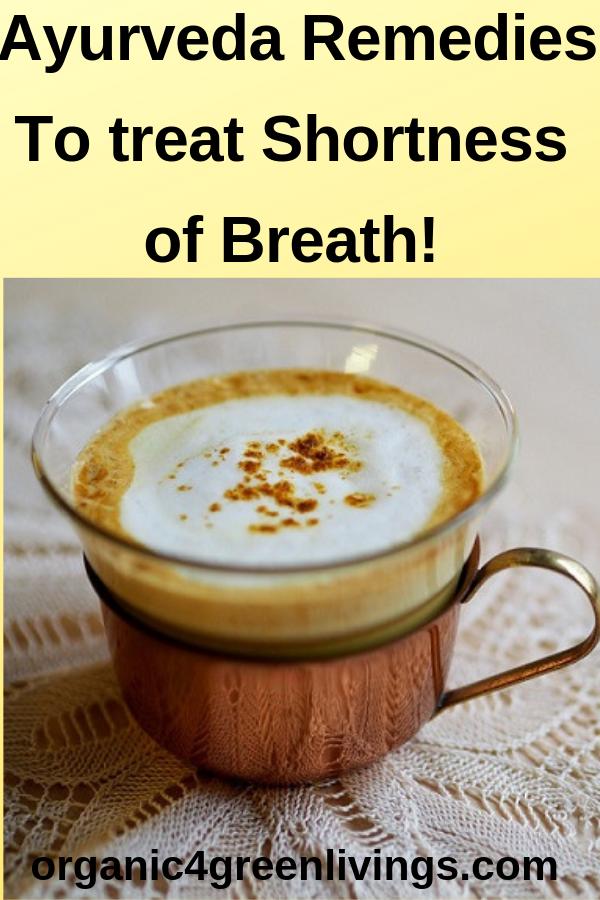 Turmeric Milk - Ayurveda remedy to treat dyspnea