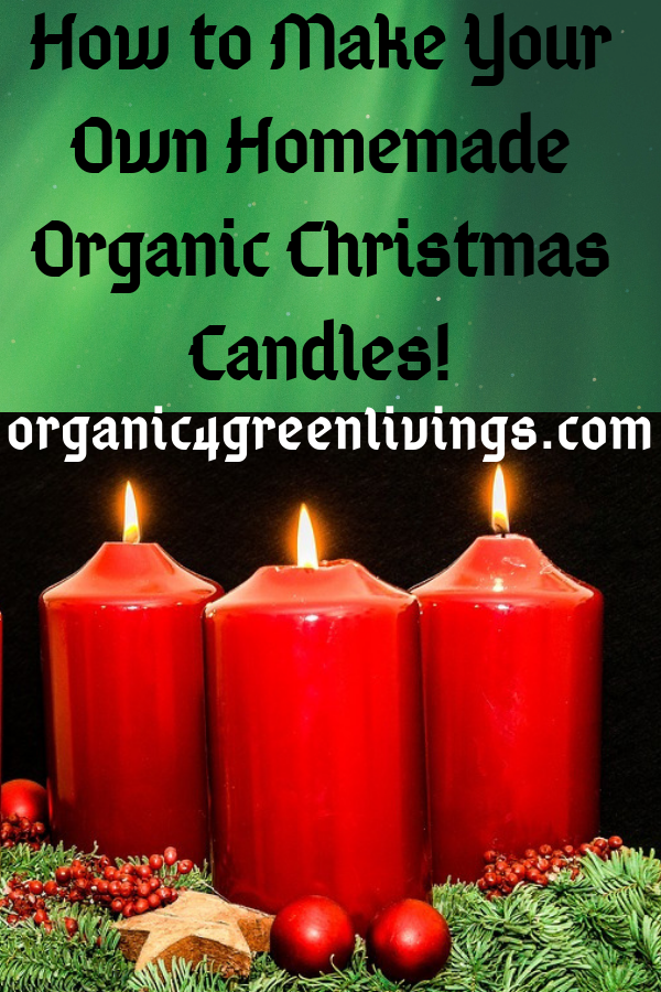 Homemade Organic Christmas Candle
