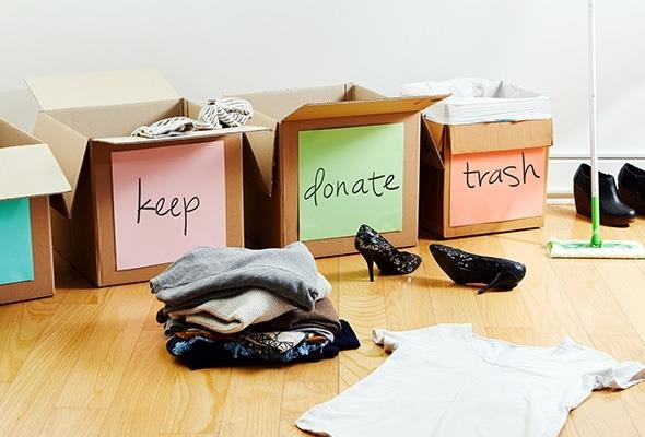 donate recycle and reorganize your home