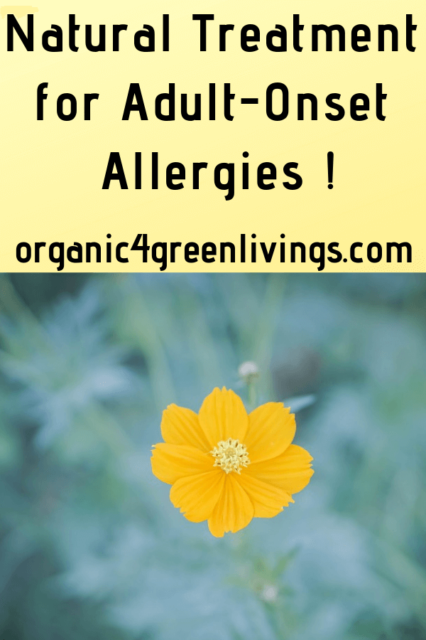 Natural Treatment for Adult-Onset Allergies