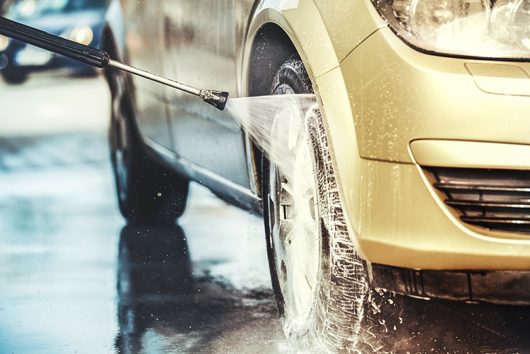 Pressure washing your car