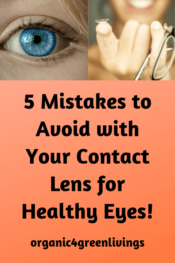how to take care of your contact lens