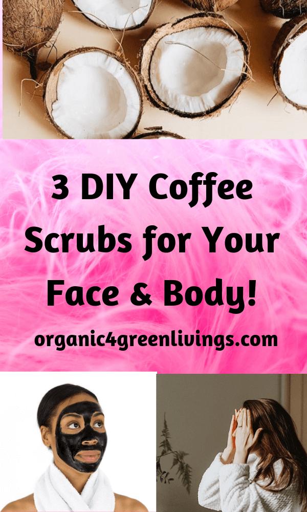DIY coffee facial masks