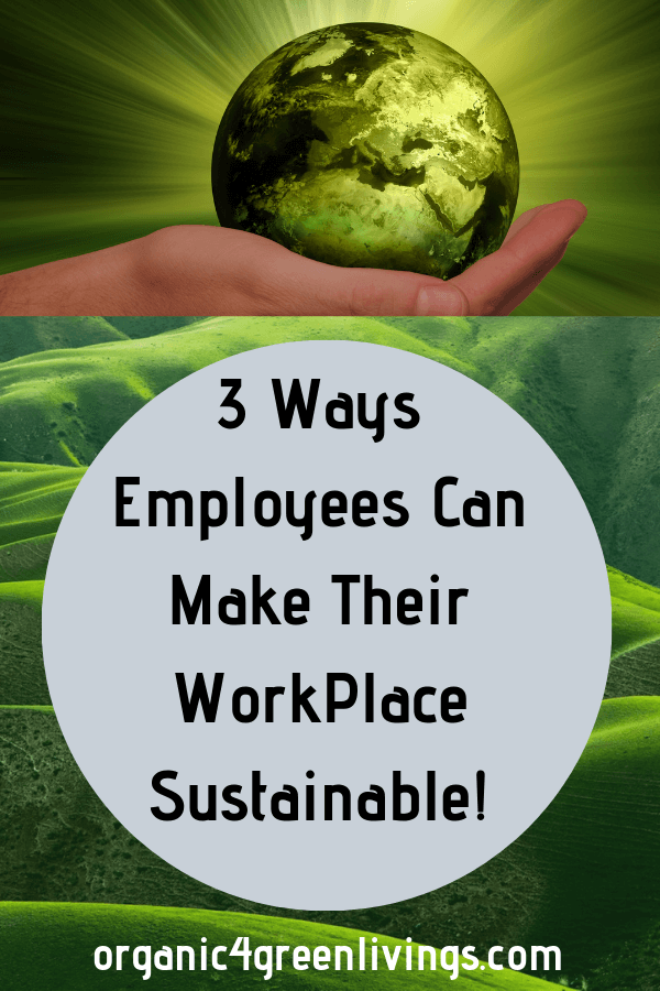how to encourage sustainability at work